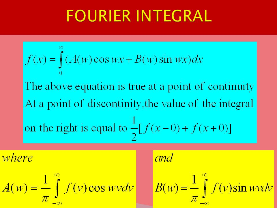 FOURIER INTEGRAL