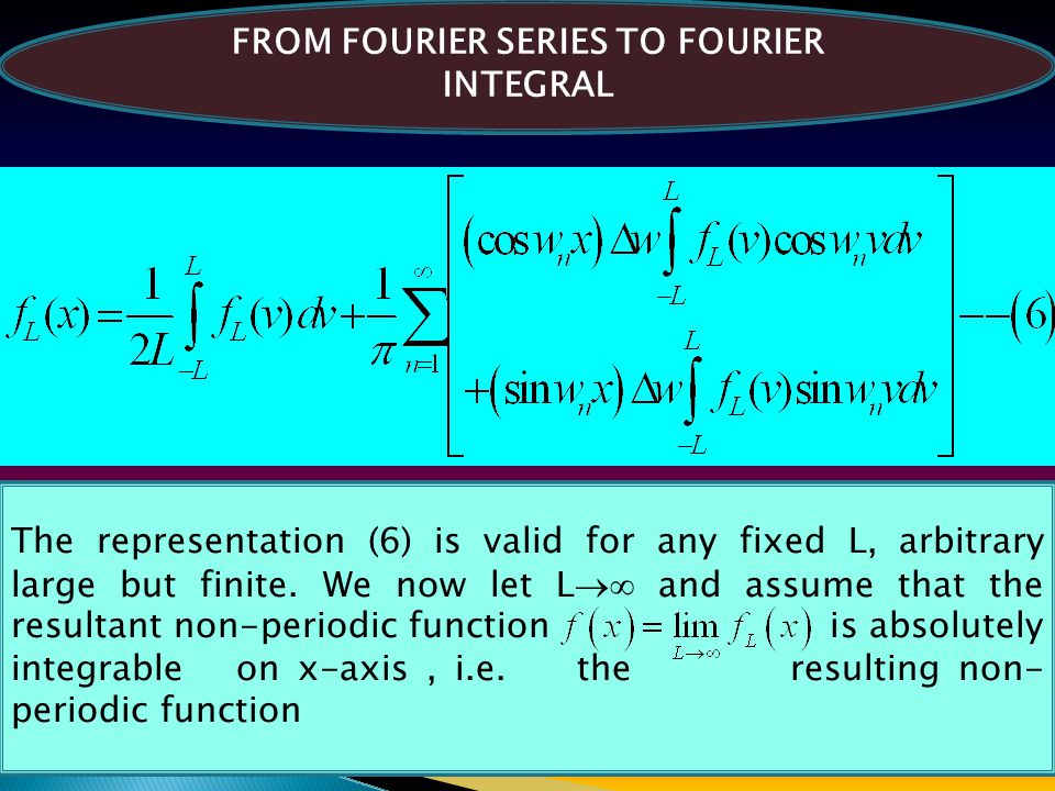 FROM FOURIER SERIES TO FOURIER INTEGRAL