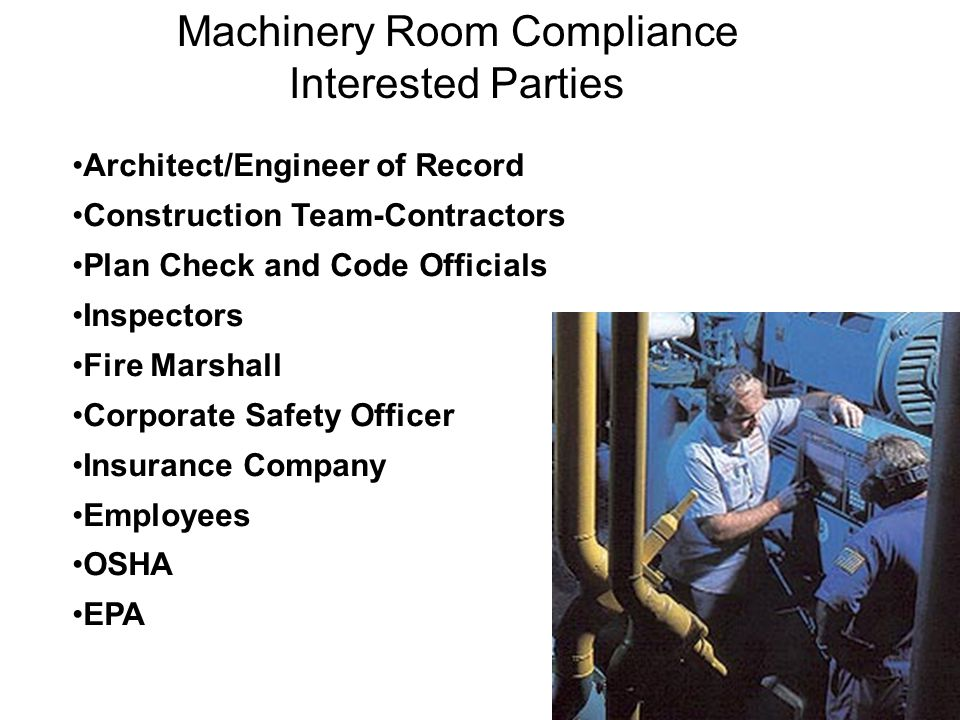Machinery Room Compliance