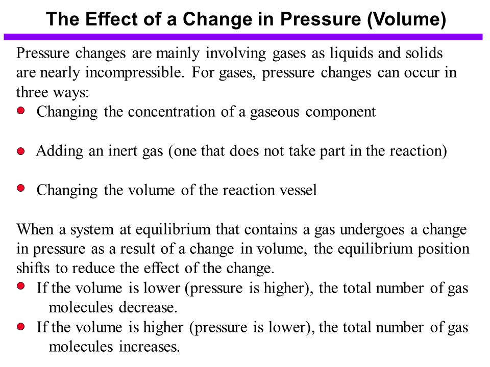 The Effect of a Change in Pressure (Volume)