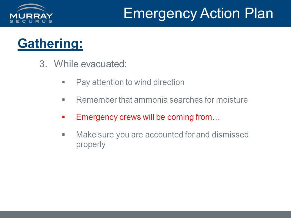 Emergency Action Plan Gathering: While evacuated: