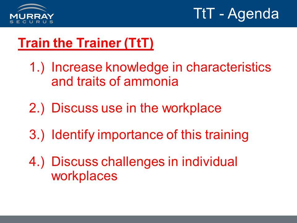 TtT - Agenda