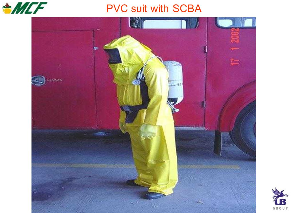 PVC suit with SCBA