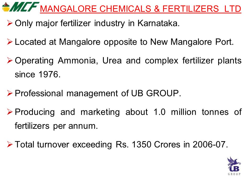MANGALORE CHEMICALS & FERTILIZERS LTD