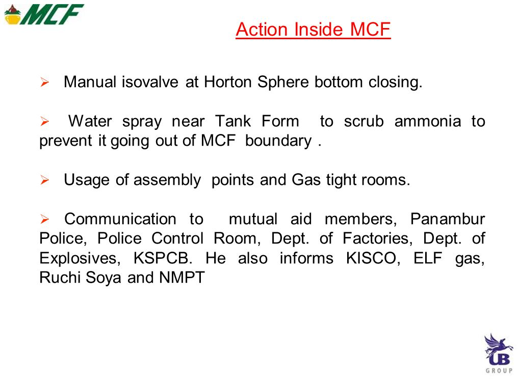 Action Inside MCF Manual isovalve at Horton Sphere bottom closing.