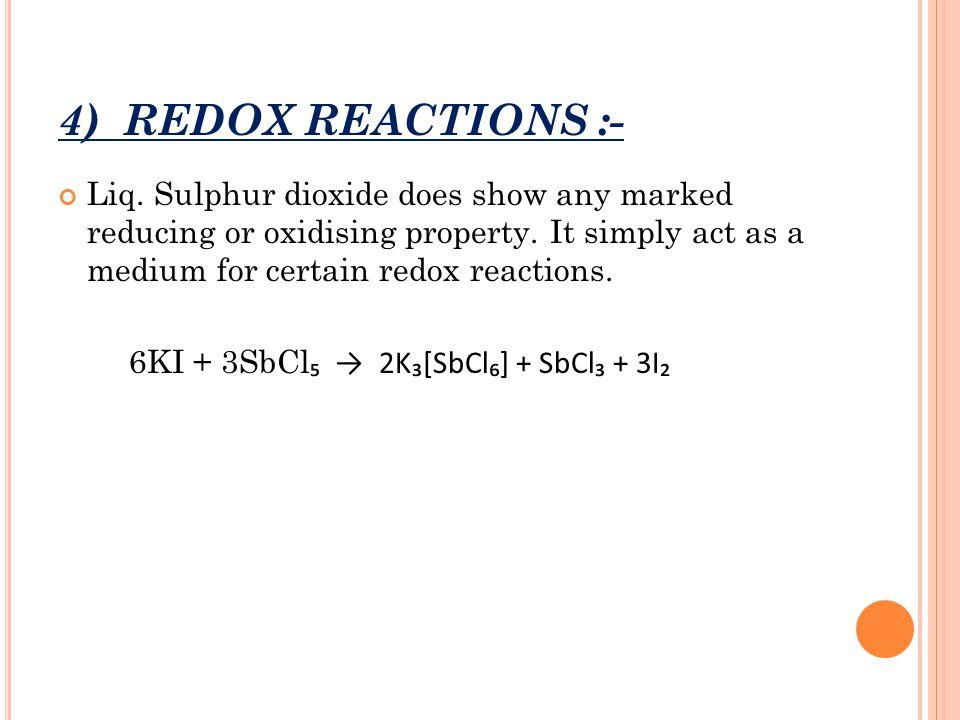 4) REDOX REACTIONS :-