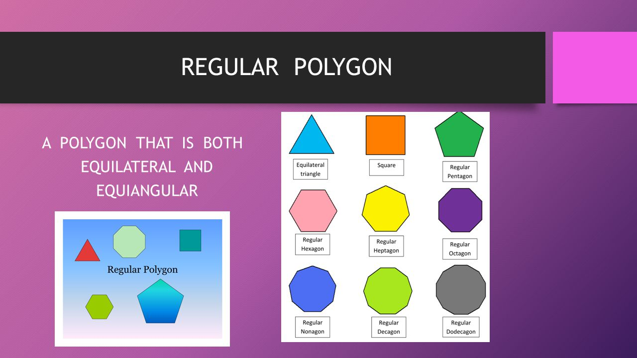 A POLYGON THAT IS BOTH EQUILATERAL AND EQUIANGULAR