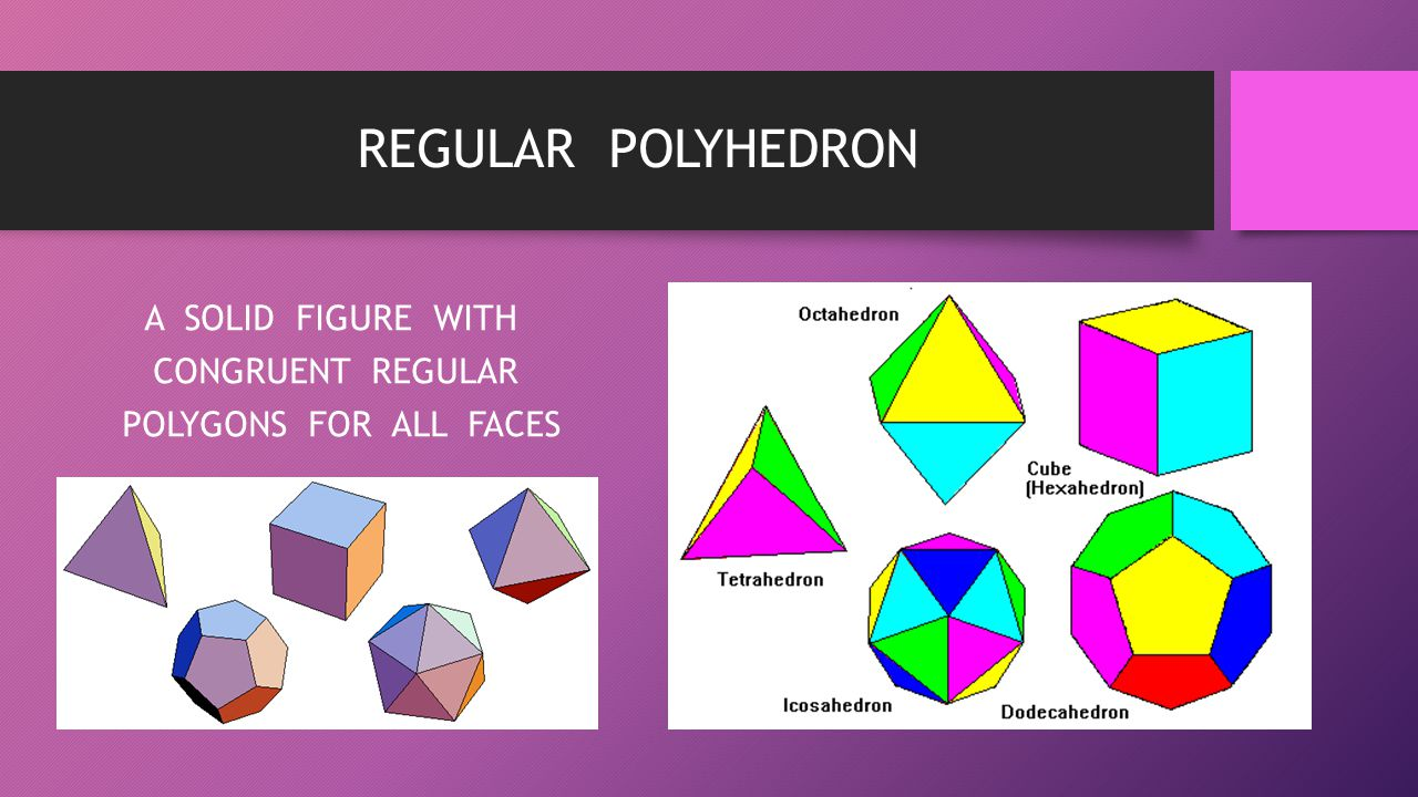 A SOLID FIGURE WITH CONGRUENT REGULAR POLYGONS FOR ALL FACES