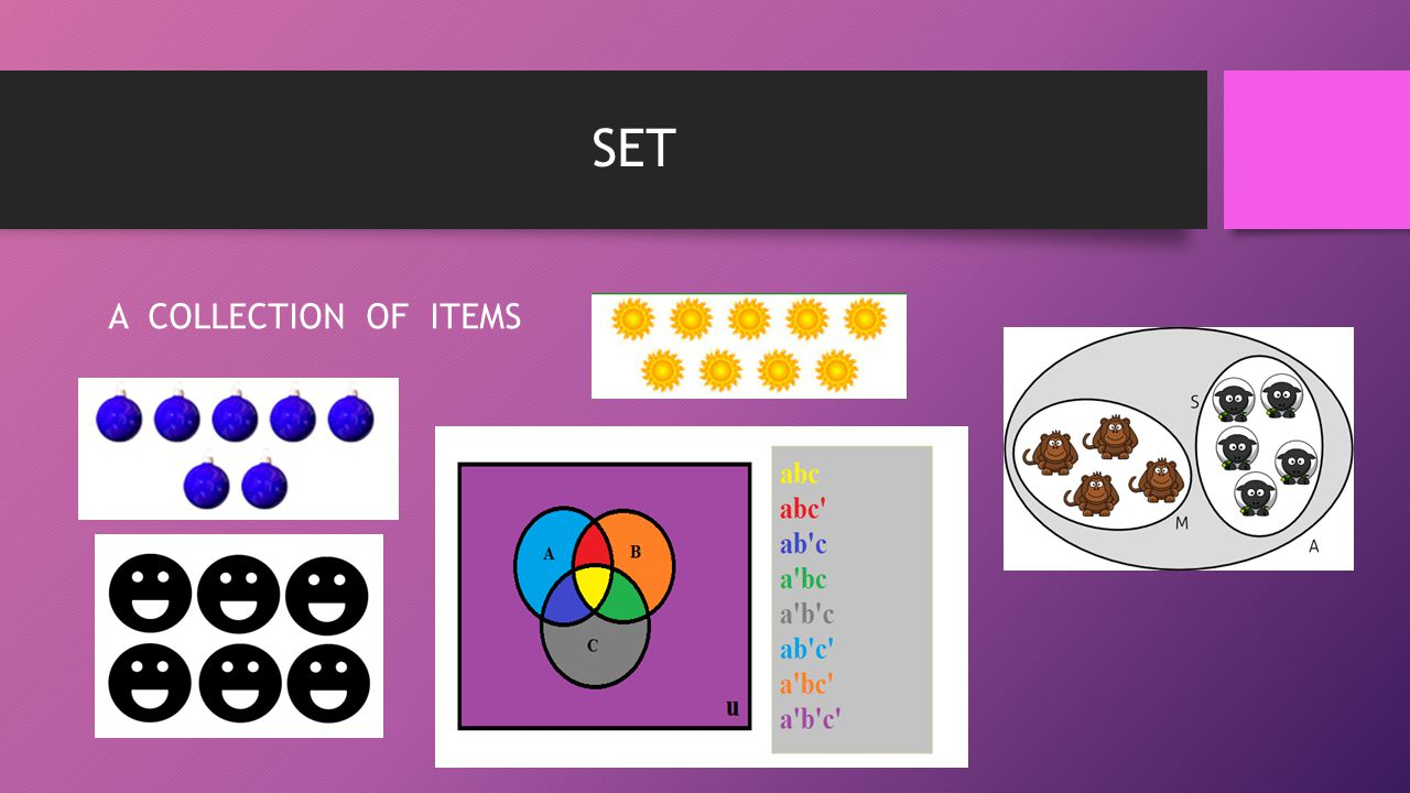 SET A COLLECTION OF ITEMS