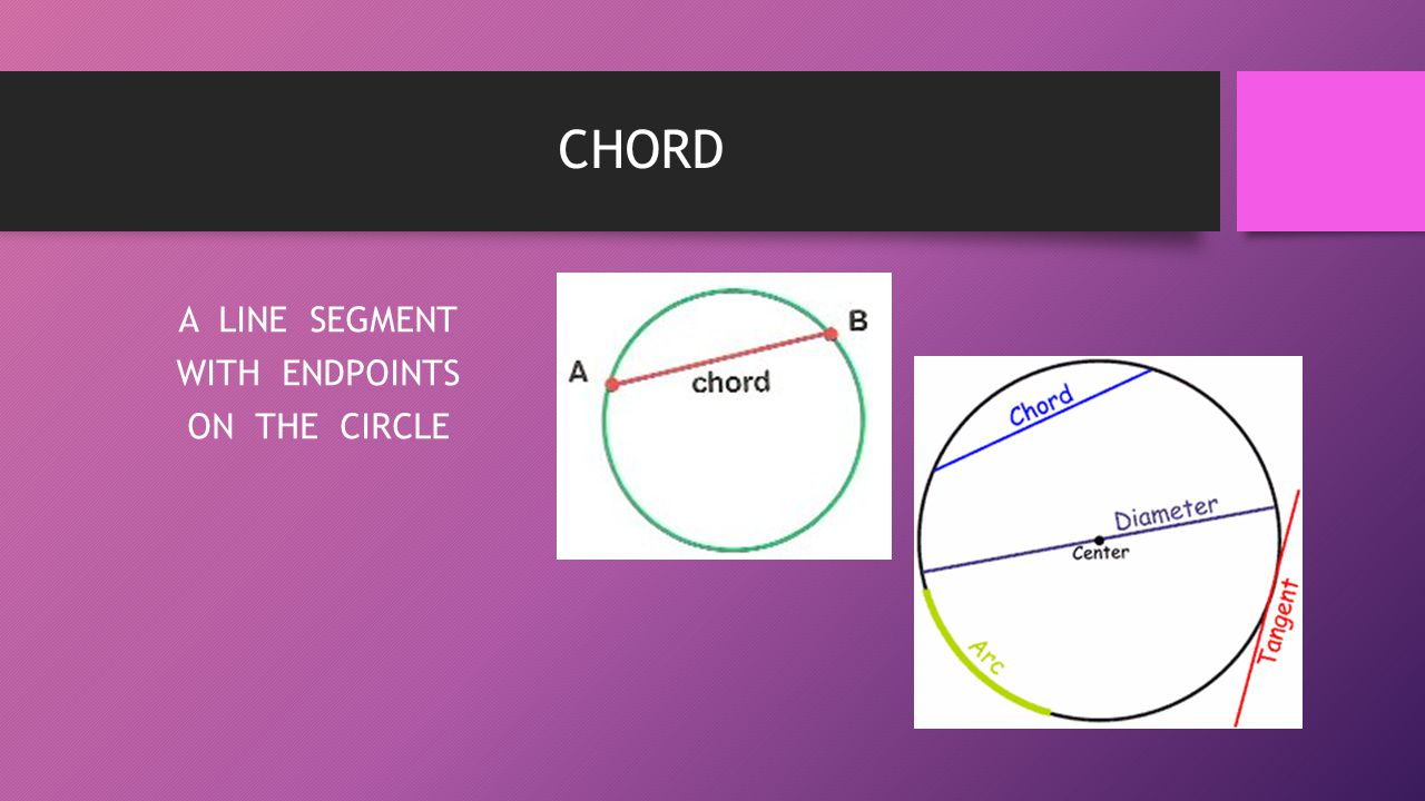A LINE SEGMENT WITH ENDPOINTS ON THE CIRCLE