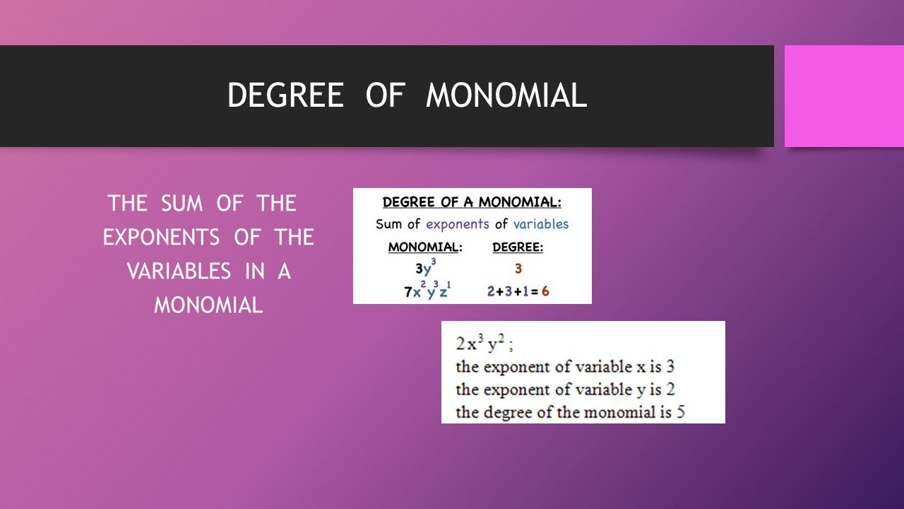 worksheet Degree Of Monomial degree of monomial word problems for math multiplication drills 0 12 algebra i and geometry vocabulary ppt download the sum exponents variables in a 4213753 monomial