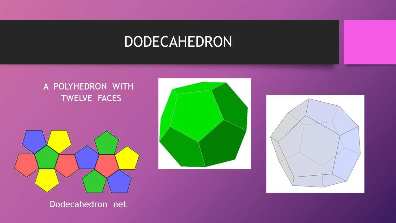 A POLYHEDRON WITH TWELVE FACES Dodecahedron net