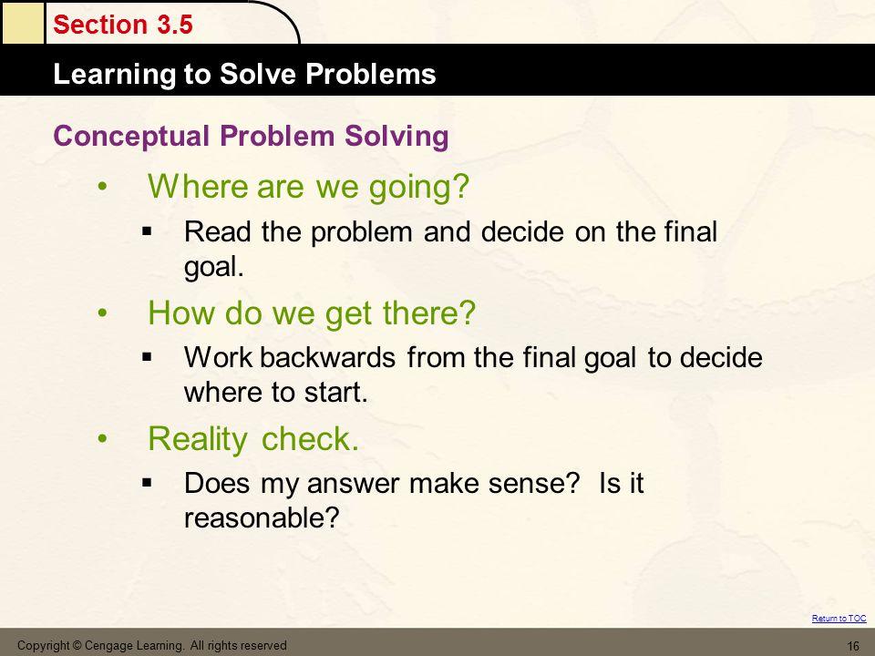 Conceptual Problem Solving