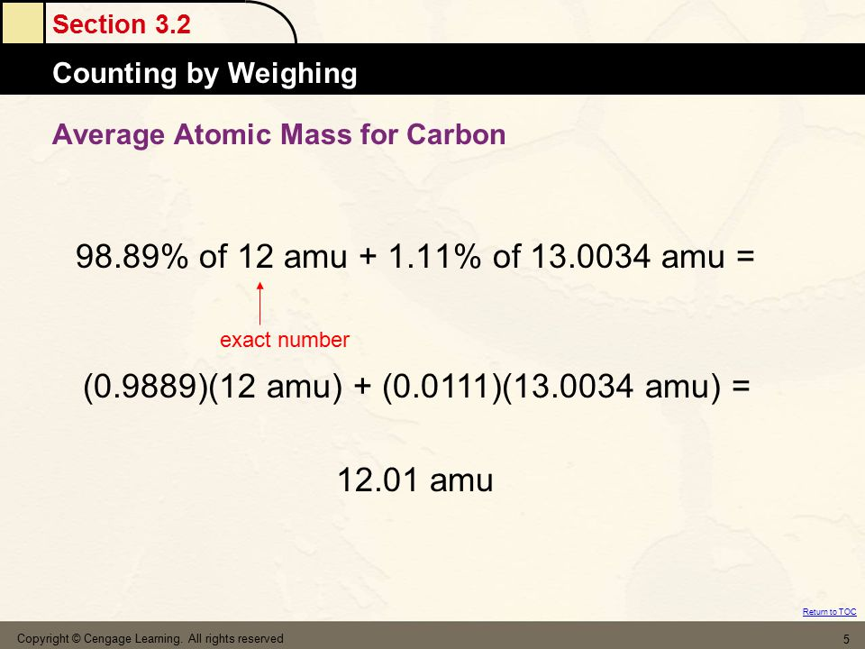 Average Atomic Mass for Carbon