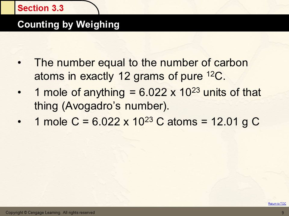 The number equal to the number of carbon atoms in exactly 12 grams of pure 12C.