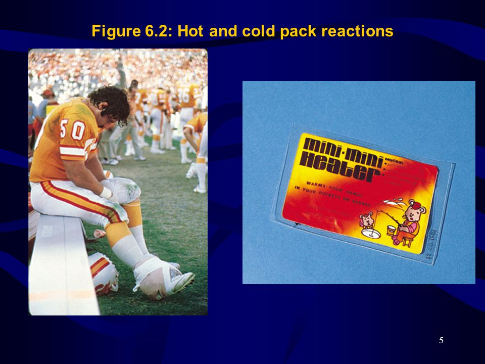 Figure 6.2: Hot and cold pack reactions