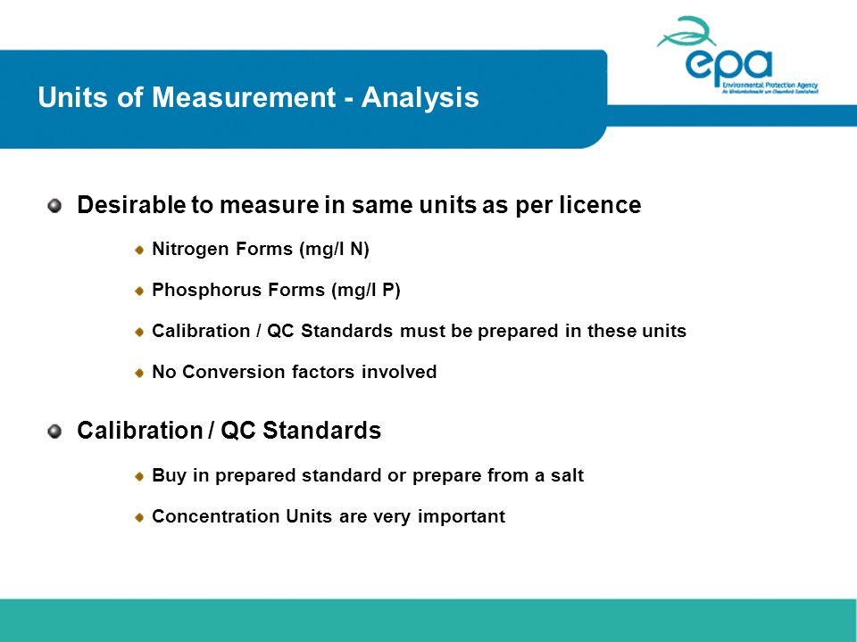 Units of Measurement - Analysis