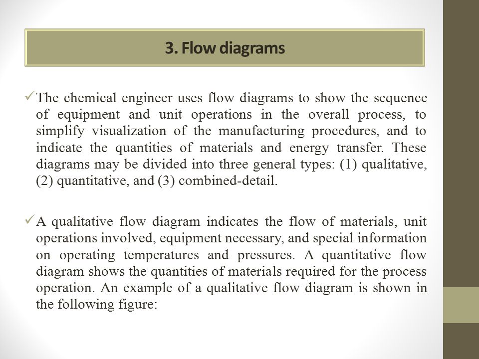 3. Flow diagrams