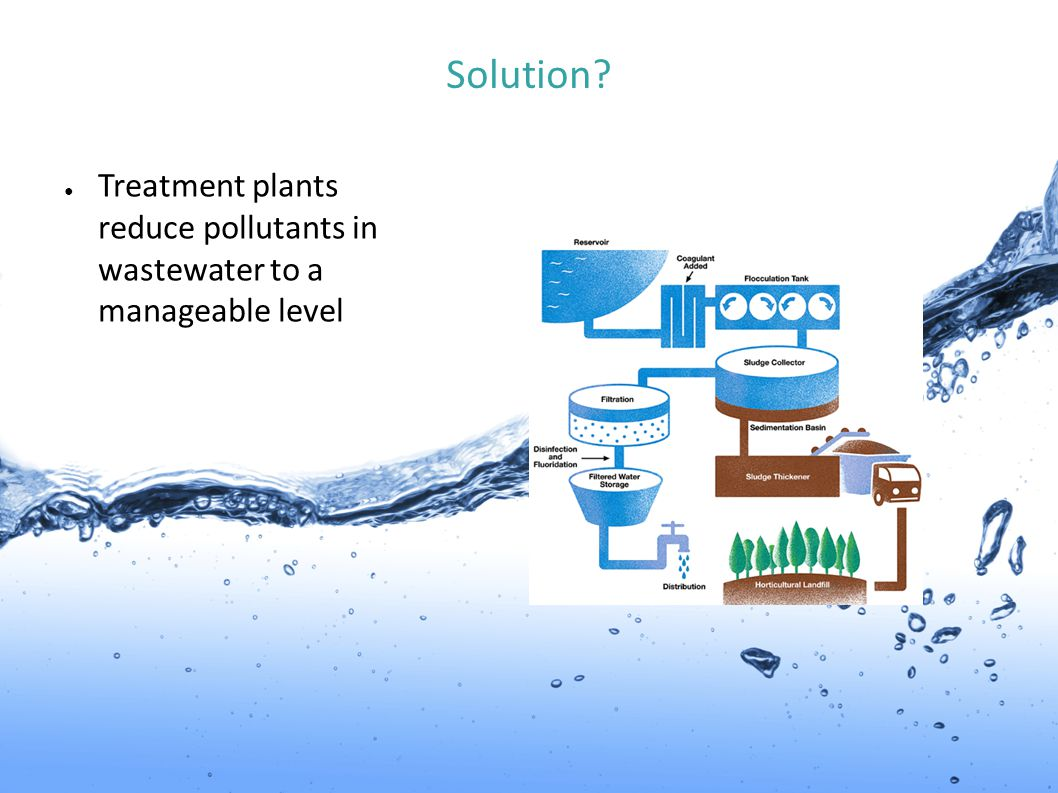 Solution Treatment plants reduce pollutants in wastewater to a manageable level