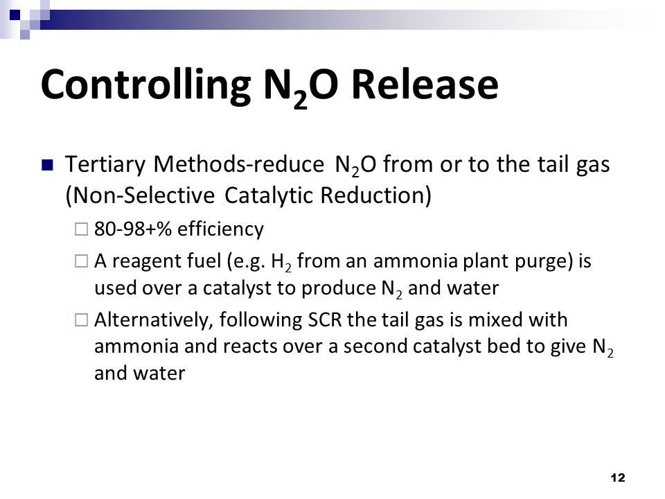 Controlling N2O Release
