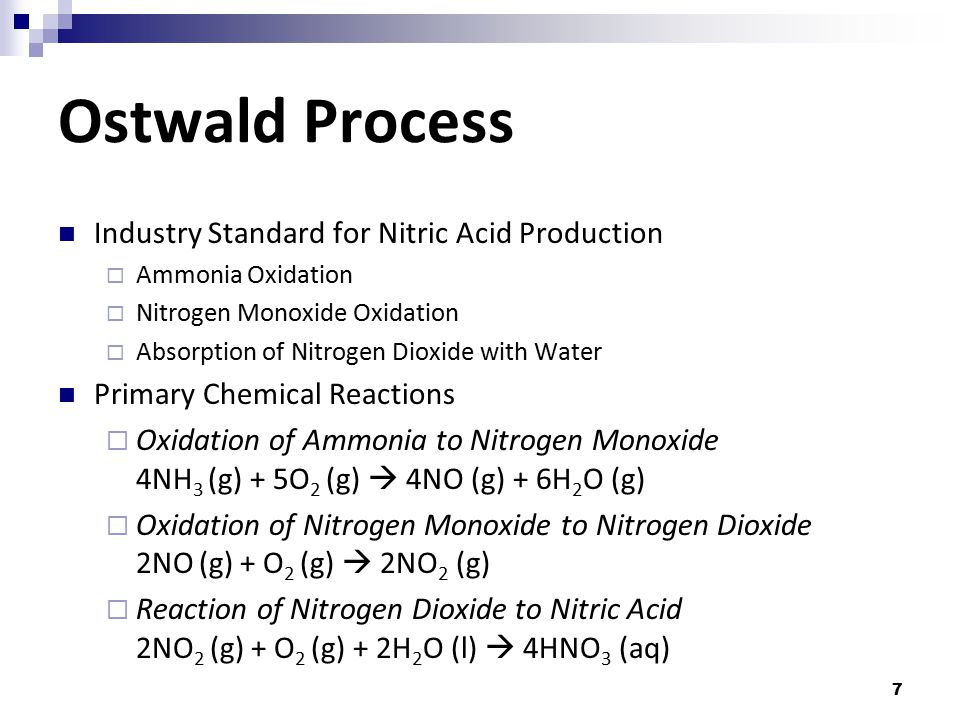 Ostwald Process Industry Standard for Nitric Acid Production