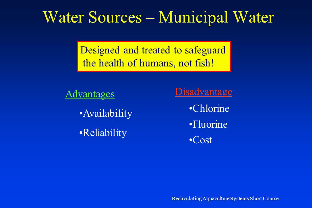 Water Sources – Municipal Water