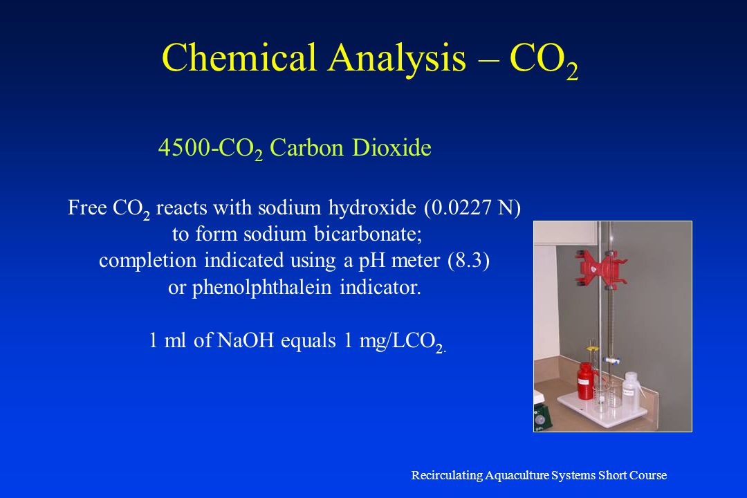 Chemical Analysis – CO2 4500-CO2 Carbon Dioxide