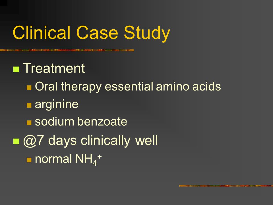 Clinical Case Study Treatment @7 days clinically well