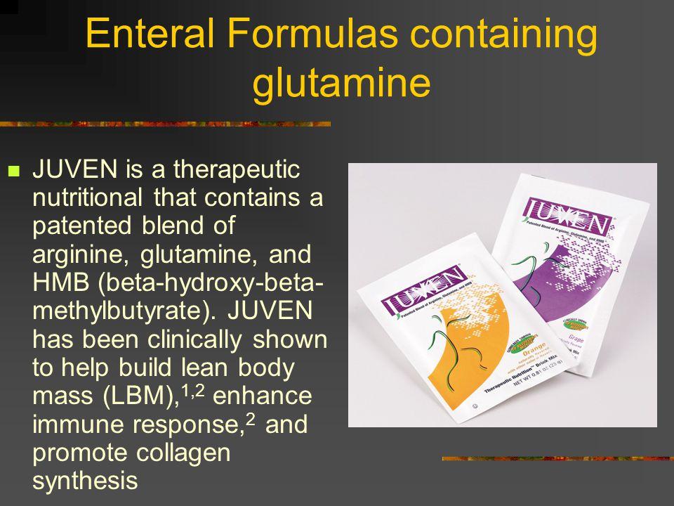 Enteral Formulas containing glutamine