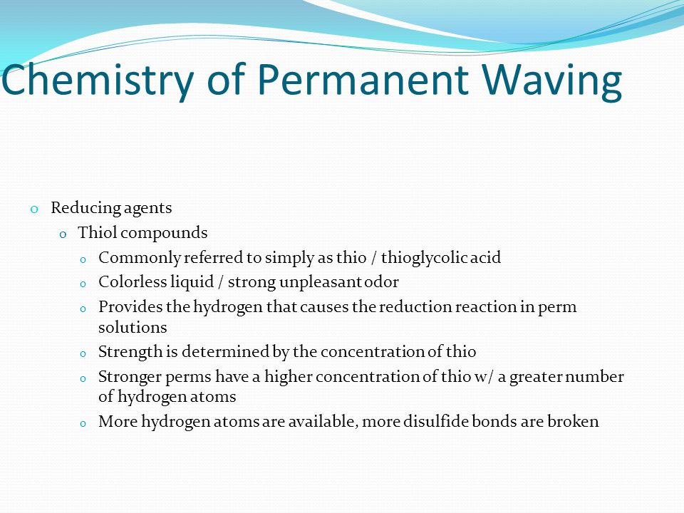 Chemistry of Permanent Waving