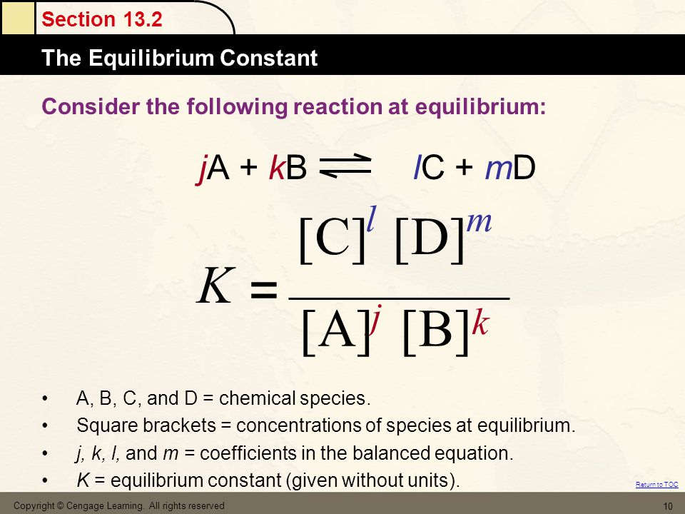 Consider the following reaction at equilibrium: