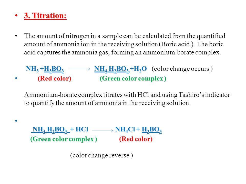 3. Titration: