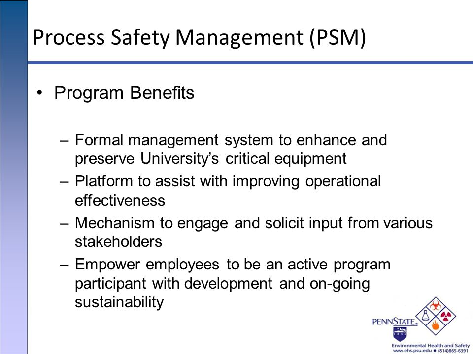 Process Safety Management (PSM)