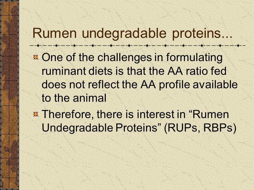 Rumen undegradable proteins...
