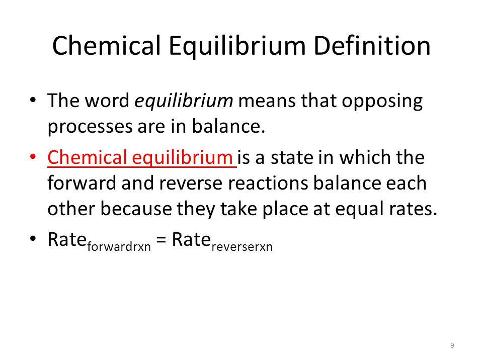 Chemical Equilibrium Definition