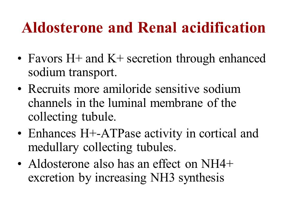 Aldosterone and Renal acidification
