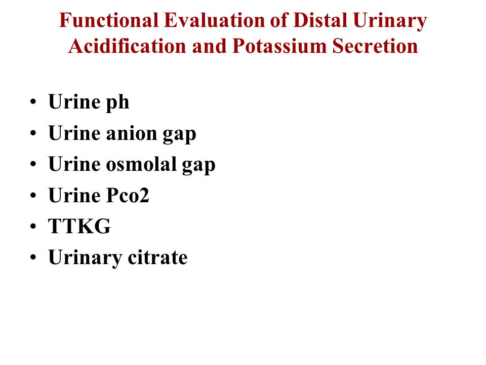 Functional Evaluation of Distal Urinary Acidification and Potassium Secretion