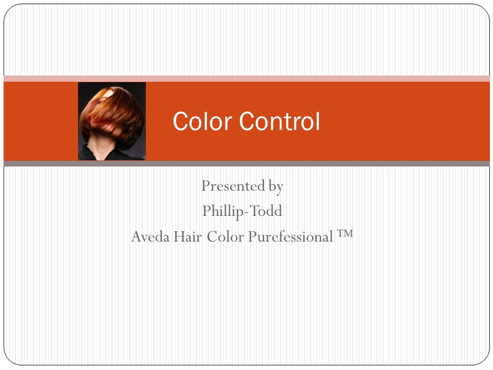 Presented By Phillip Todd Aveda Hair Color Purefessional Ppt