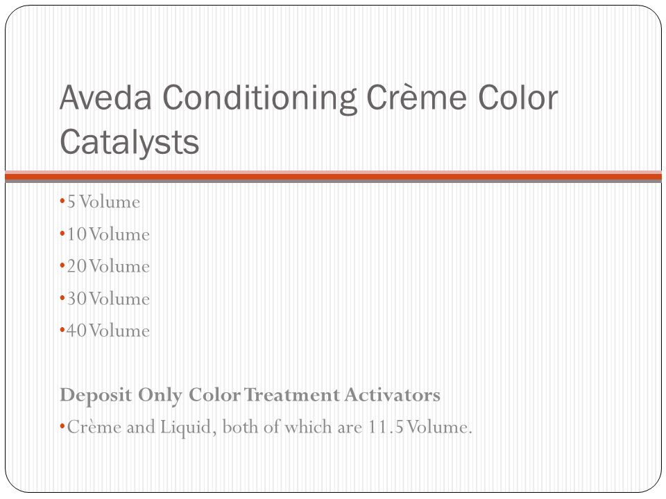 Aveda Conditioning Crème Color Catalysts