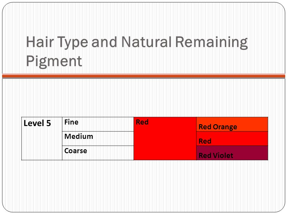 Hair Type and Natural Remaining Pigment