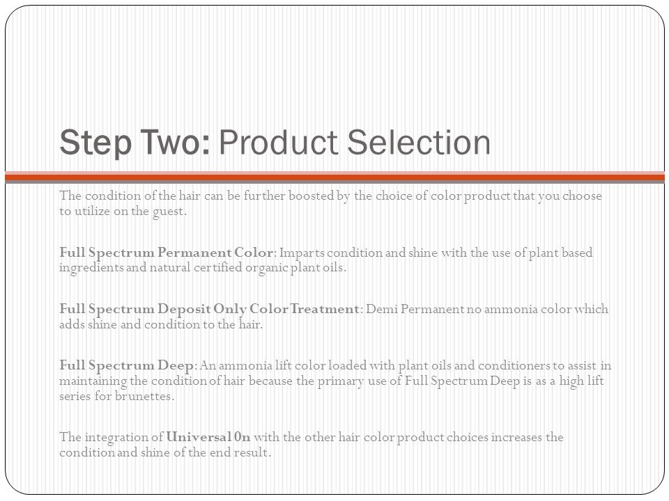 Step Two: Product Selection