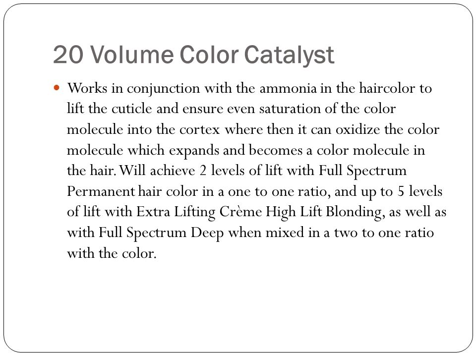 20 Volume Color Catalyst