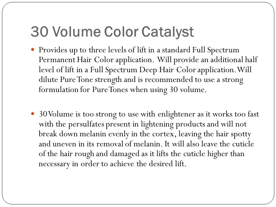 30 Volume Color Catalyst