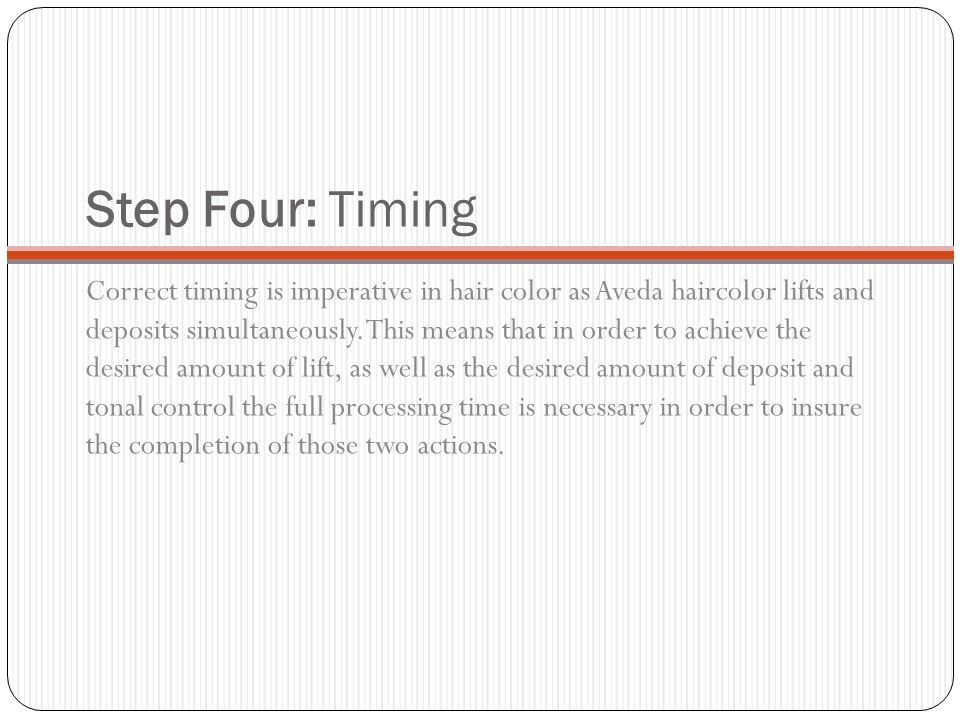 Step Four: Timing
