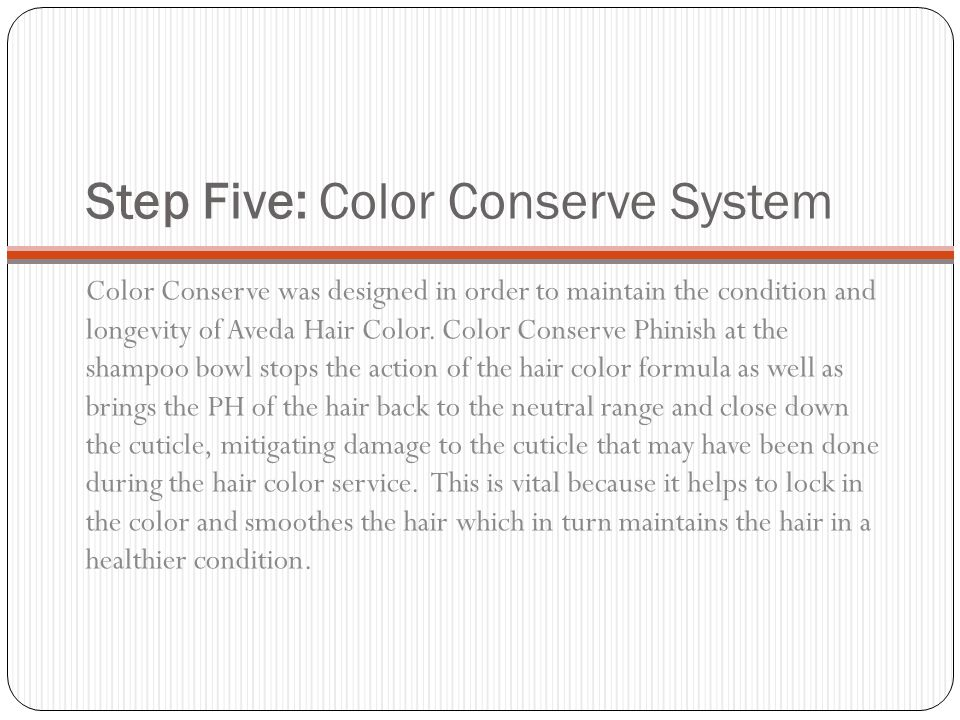 Step Five: Color Conserve System