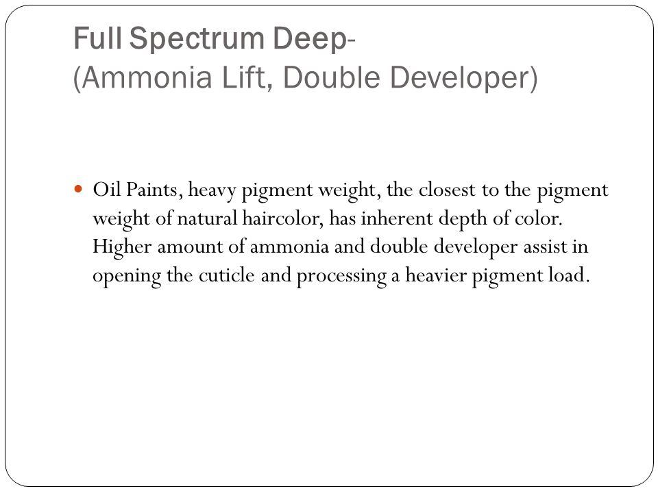 Full Spectrum Deep- (Ammonia Lift, Double Developer)