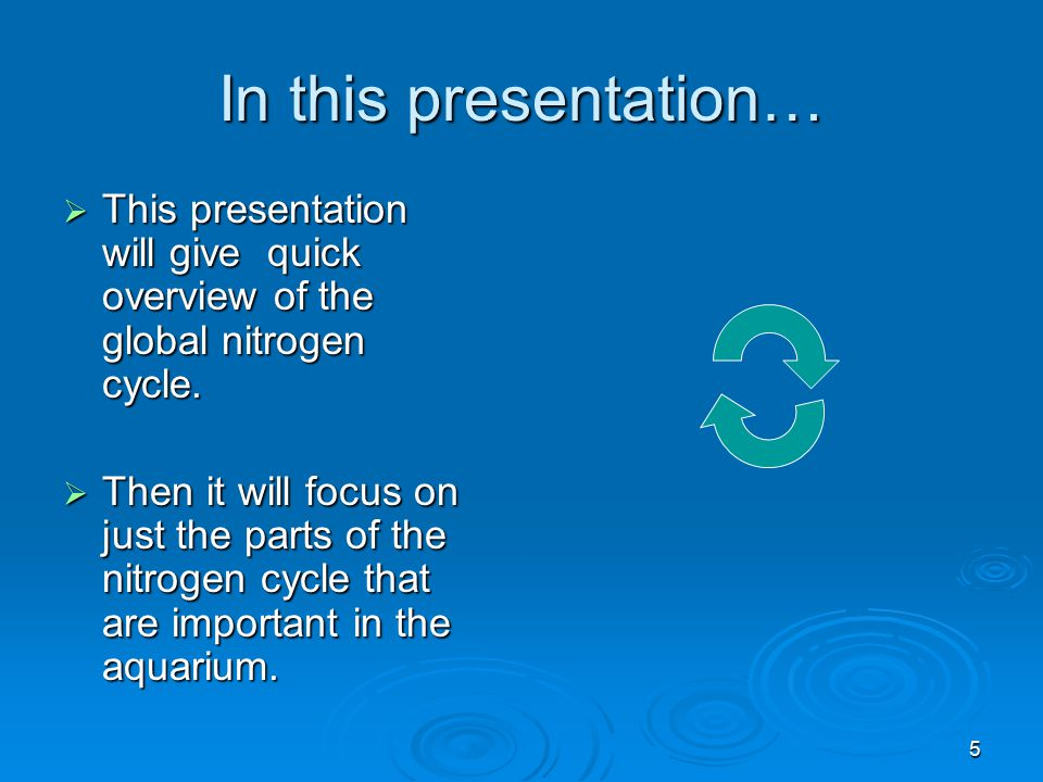 In this presentation… This presentation will give quick overview of the global nitrogen cycle.