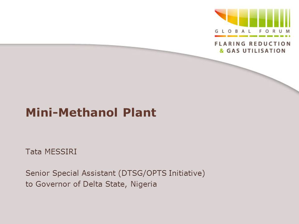 Mini-Methanol Plant Tata MESSIRI
