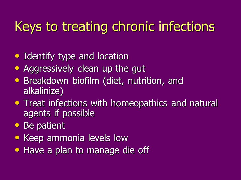 Keys to treating chronic infections