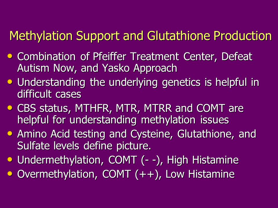 Methylation Support and Glutathione Production
